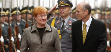 With Finish President Mrs. Halonen (October 2005)