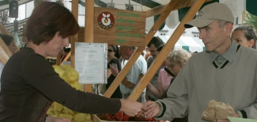 At the Eco-market in Ljubljana (September 2005)